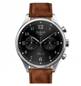 Tusenö FIRST 42 ROSE GOLD/BLACK BROWN Suede STRAP-02