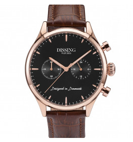 Dissing Brown Leather Rose Gold/Black-00
