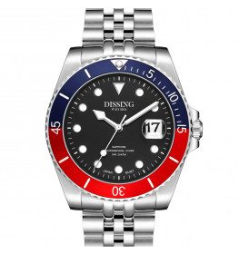 Dissing Diver Silver/Black/Red-04