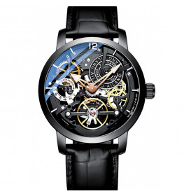Ailang Automatic Tourbillon Black Leather Black-013