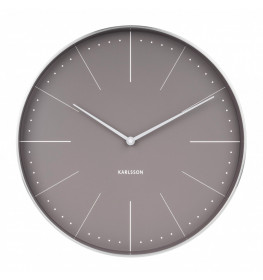 Karlsson Wall clock Normann station (Grey)-066