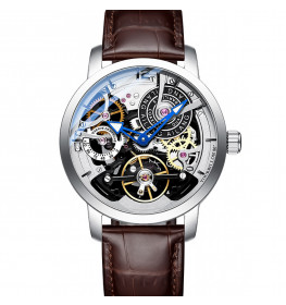 Ailang Automatic Tourbillon Brown Leather Steel-014