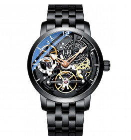 Ailang Automatic Tourbillon Black Steel Black-010