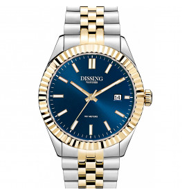 Dissing Two Tone Date Gold/Blue-033