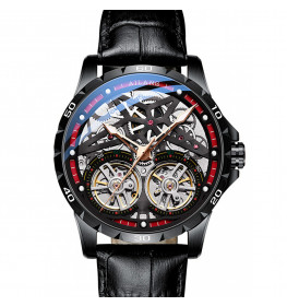 Ailang Automatic Black Leather Black-011