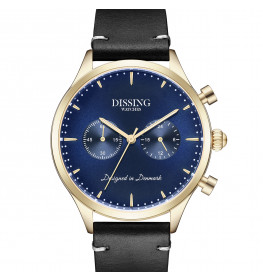 Dissing Italian Leather gold/blue-054