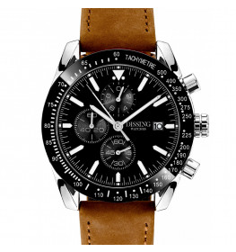 Dissing Chrono Brown Leather Silver/Black-08