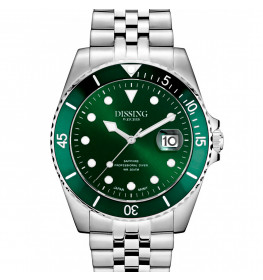 Dissing Diver Silver/Green-054