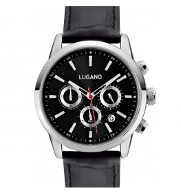 Lugano Master Black Leather Black-038