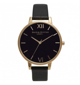 Olivia Burton Big Dial Black and Gold-020
