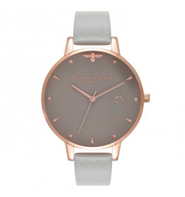 Olivia Burton Queen Bee Grey and Rose Gold-03