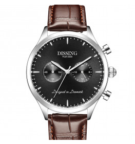 Dissing Brown Leather Silver/Black-09