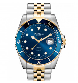 Dissing Diver Silver/Gold/Blue-053