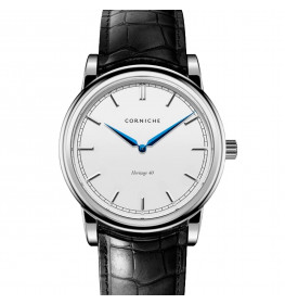Corniche Men's Heritage 40 Stainless Steel with White Dial-047