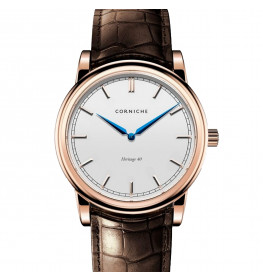 Corniche Men's Heritage 40 Rose Gold with White Dial-038