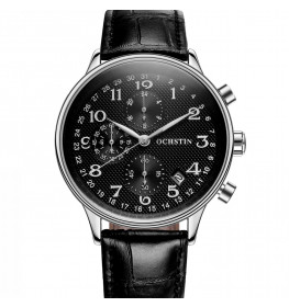 Ochstin Chronograph Leather Black/Silver-031
