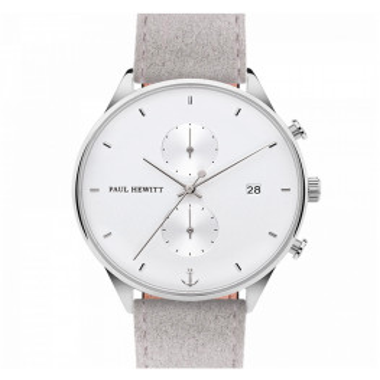 Paul Hewitt Chrono White Sand Silver Alcantara Grey-023