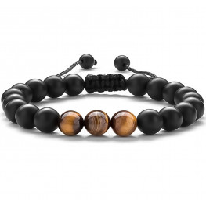 Tiger Eye Stone Bracelet Black/Brown-02