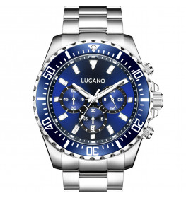 Lugano Icon Steel/Blue-048