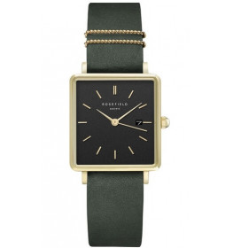 Rosefield The Boxy Black Forrest Green Gold-037