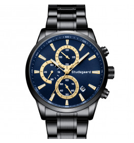 Studsgaard Chronograph Black/Blue-04