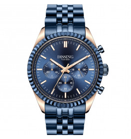 Dissing Date Chrono Blue Rose Gold-05