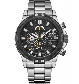 Megir Chronograph Steel/Black-03