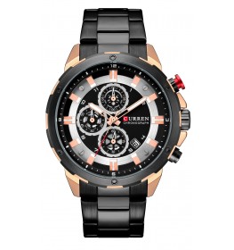 Curren Chrono Master Black/Rose Gold Steel-071