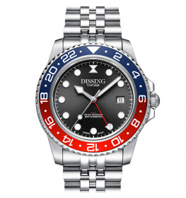 Dissing Diver GMT Silver/Black/Red-08