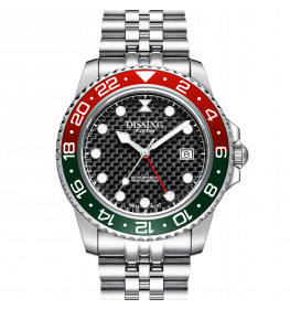 Dissing Diver GMT Silver/Black/Green-08