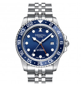 Dissing Diver GMT Silver/Blue-08