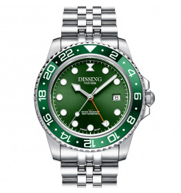Dissing Diver GMT Silver/Green-07