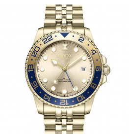 Dissing Diver GMT Gold/Blue-05