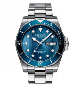 Dissing Diver Day Date Silver/Blue-013