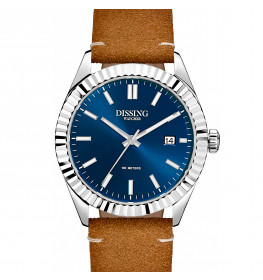 Dissing Date Leather Steel/Blue-045
