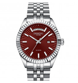 Dissing Day Date Steel Red-06