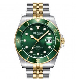 Dissing Diver Silver/Gold/Green-055