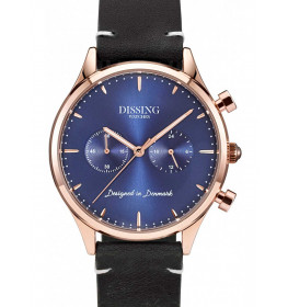Dissing Italian Leather rosegold/blue-049