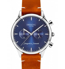 Dissing brown Leather Silver/Blue-050