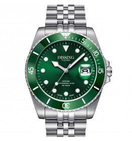 Dissing Diver Silver/Green-063
