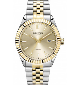 Dissing Two Tone Date Steel/Gold-048
