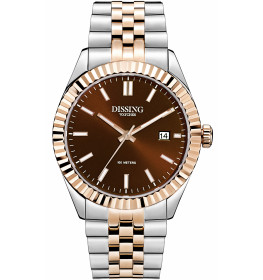 Dissing Two Tone Date Rose Gold/Chocolate Brown-038