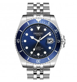 Dissing Diver Automatic Silver/Blue-04