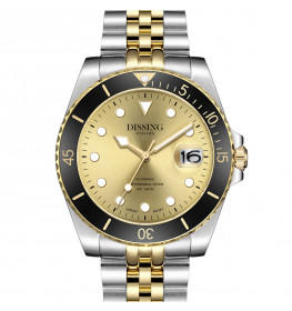 Dissing Diver Automatic Silver/Gold/Black/Gold-06