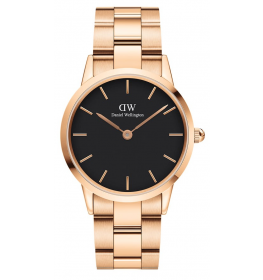 Daniel Wellington Iconic Link 36 Rose Gold Black DW00100210-039