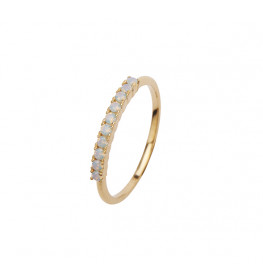 Pico Fineley Crystal Mint Ring Forgyldt-02