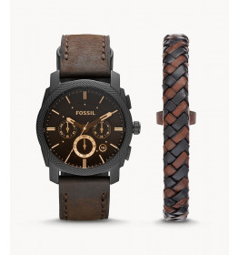 Fossil Machine Chronograph Watch And Bracelet Box Set-010