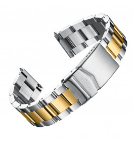 Dissing Gold/Silver Oyster Strap 22MM DS065-02