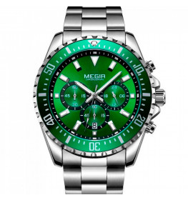 Megir Aviator Steel/Green-032