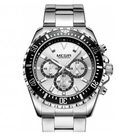 Megir Aviator Steel/White-030